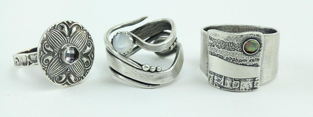 Lisel Crowley, 3 silver rings