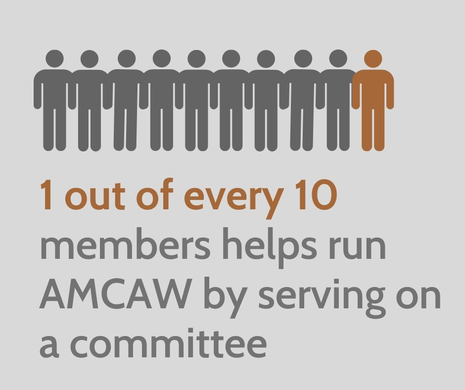 graphic_1 in 10 members serves on a committee