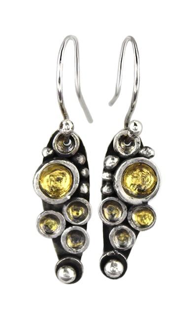 Image of stone set earrings