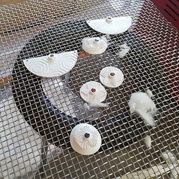 Paula Mcdowell mokume earrings