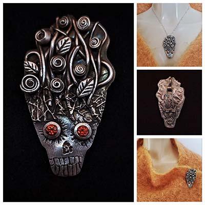 Brett Althorp Bits & Pieces Oct 20 winner Halloween mask brooch