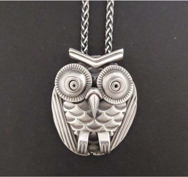 Silver clay owl by Michael Marx